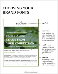 Choosing your Brand Fonts