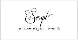 Font Style: Script