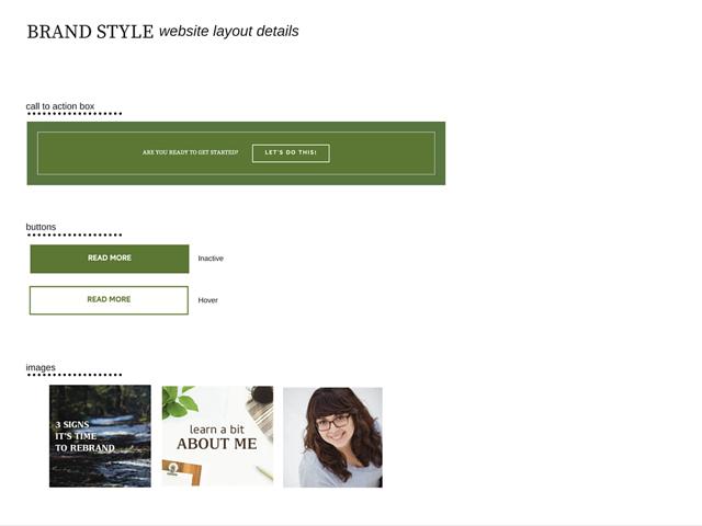 Brand Style Guide Website Details Board