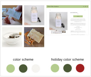 Willow & Birch Holiday Color Scheme