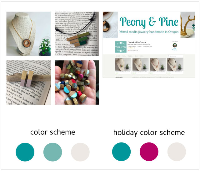 Peony and Pine Holiday Color Scheme