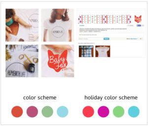 Baby Fox Holiday Color Scheme