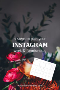 5 steps to plan your Instagram week & (semi)unplug + a free planner page