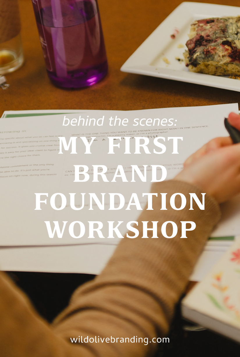 My First Brand Foundation Workshop