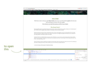 Open Chrome's HTML Inspector
