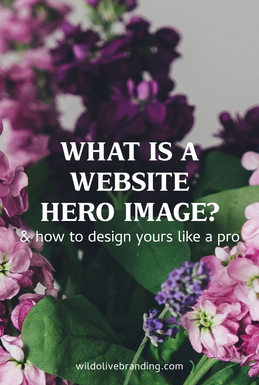 Website Hero Image Design - Hierarchy