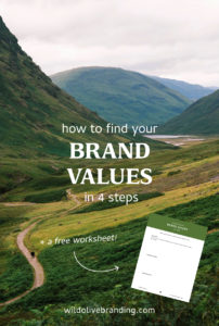 How to find your brand values in 4 steps + a free worksheet!
