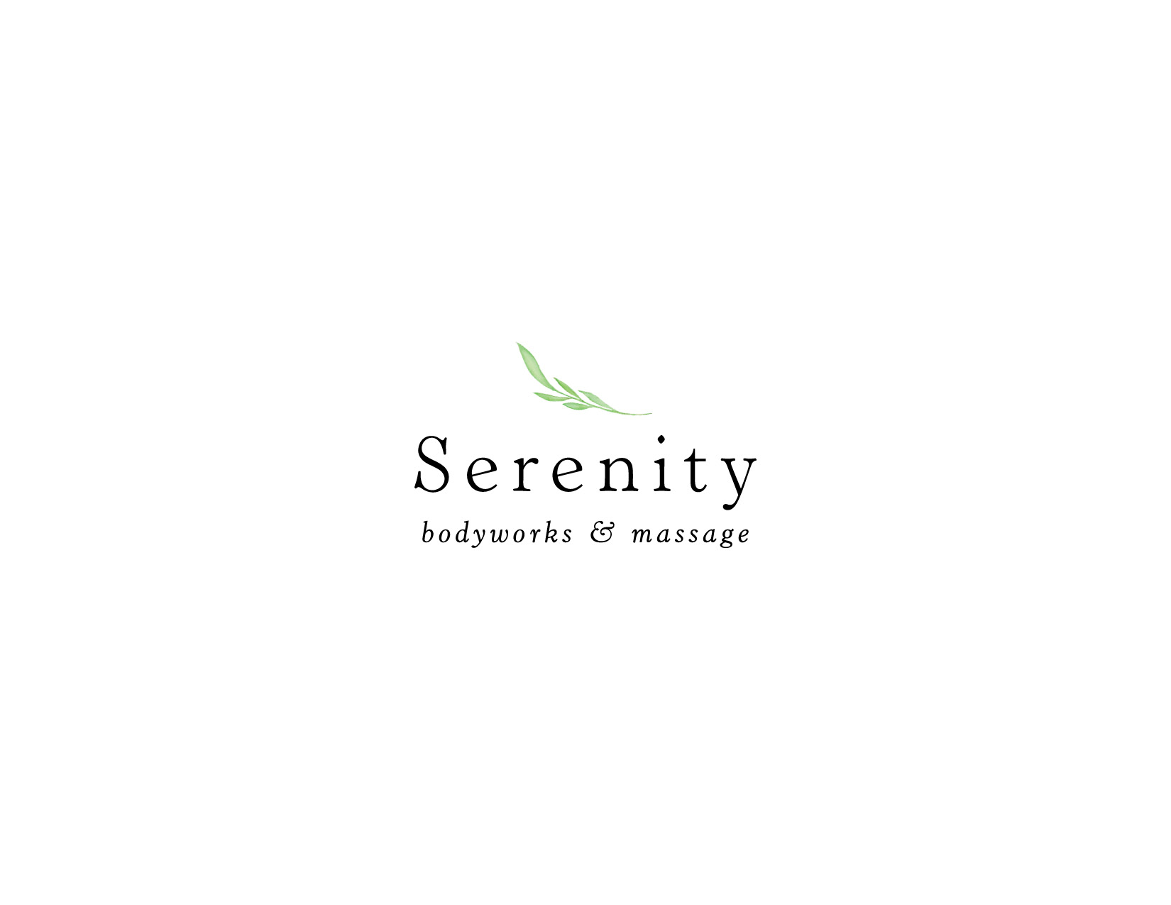 Serenity Body Works and Massage Logo Design