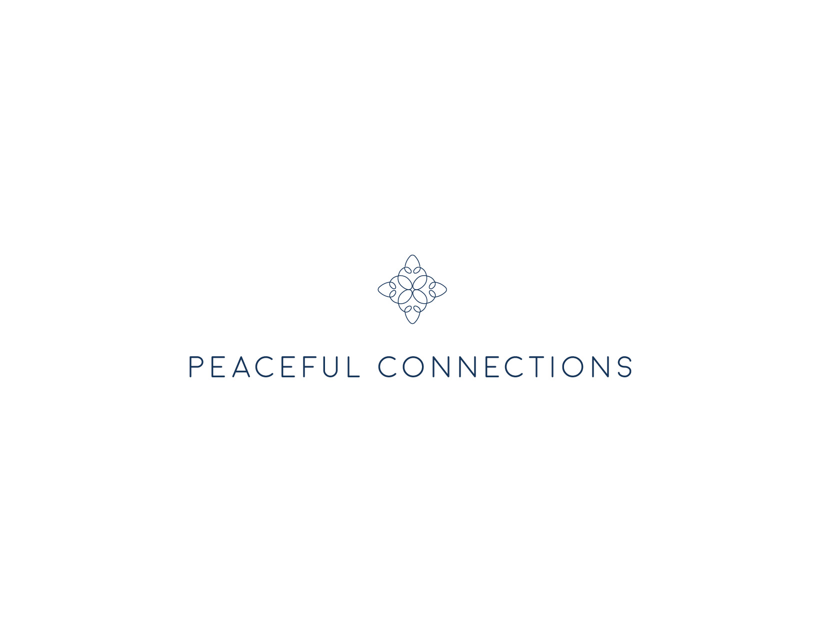 massage therapy branding: Peaceful Connections Logo Design