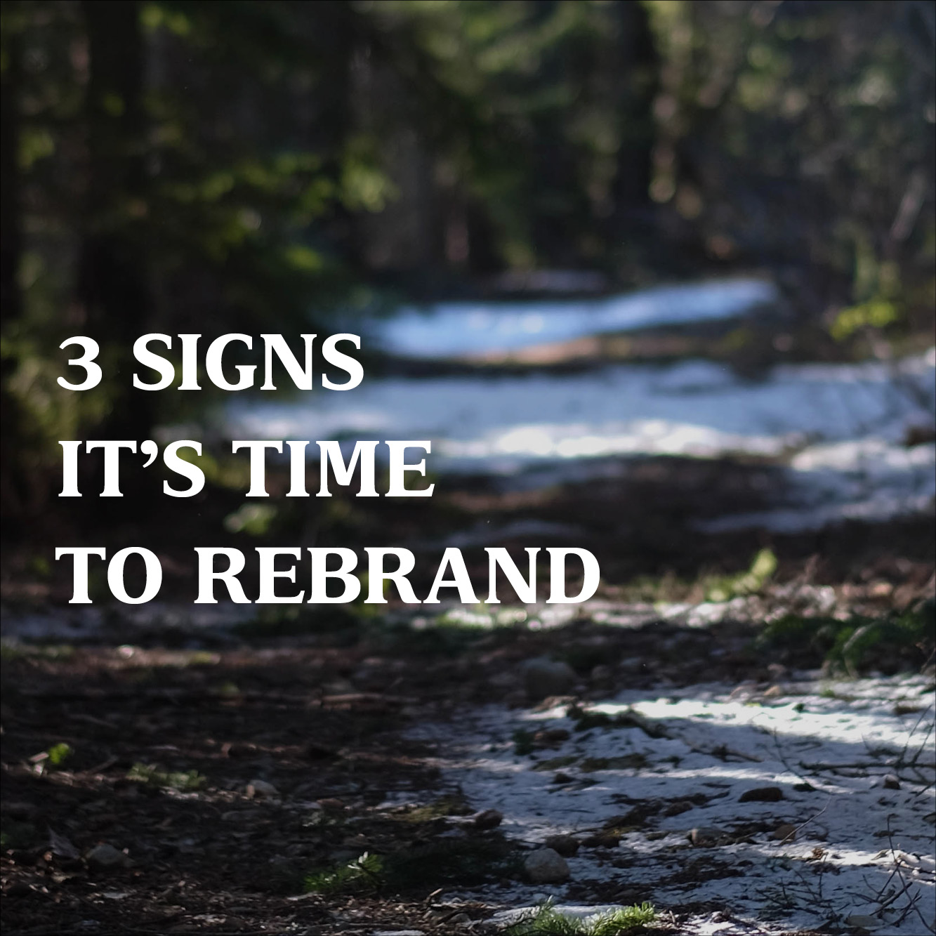 3 Signs it's Time to Rebrand
