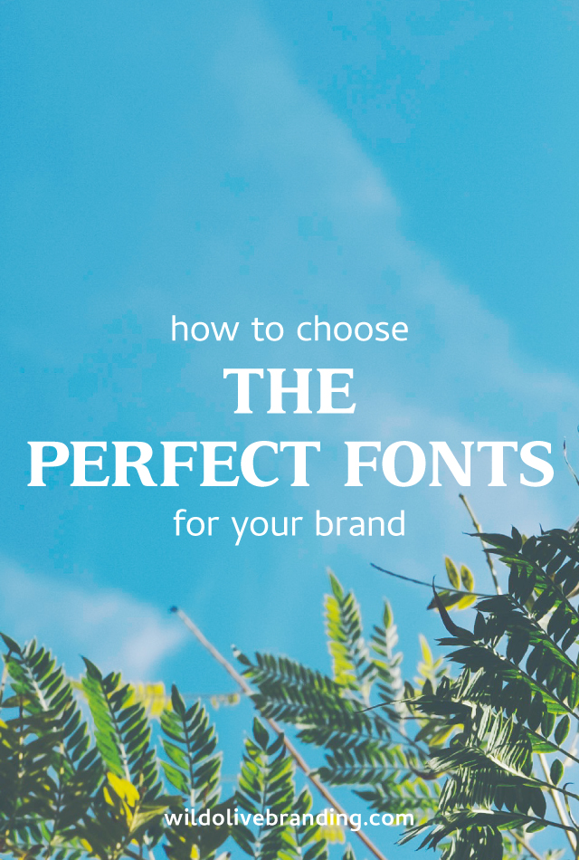 How to Choose the Perfect Fonts for your Brand